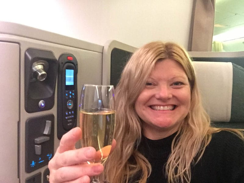deb champagne business class cathay pacific
