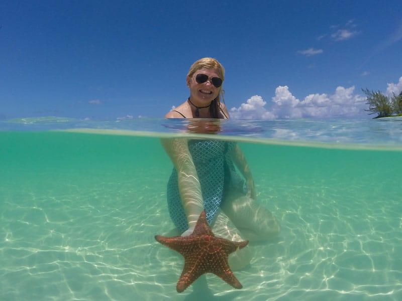 starfish point deb with fish grand cayman