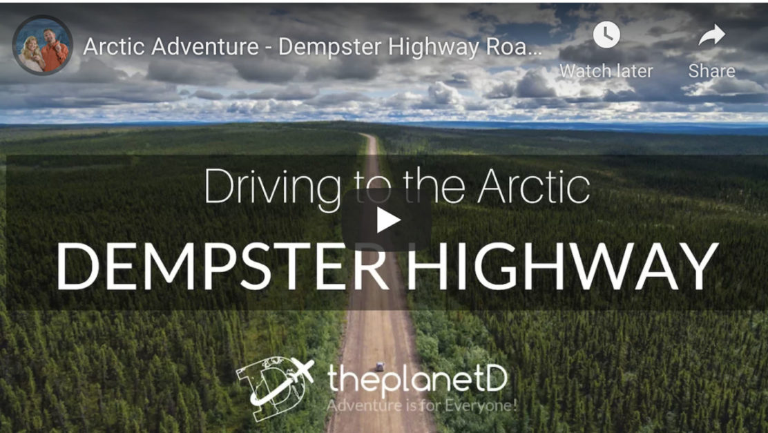 Dempster highway video from Inuvik Northwest Territories to Dawson City Yukon