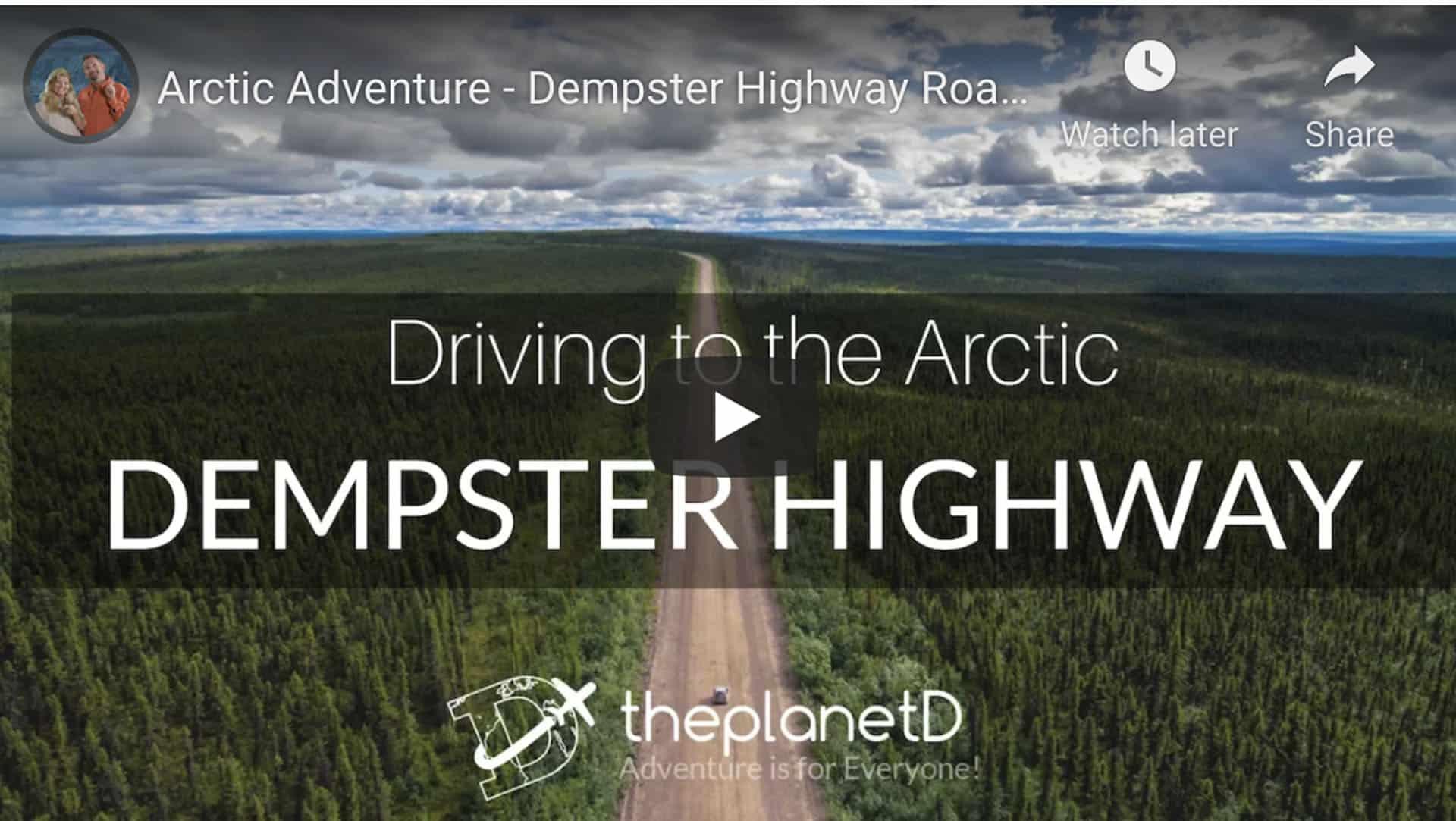 Dempster highway video from Inuvik Northwest Territories to Dawson City Yukon