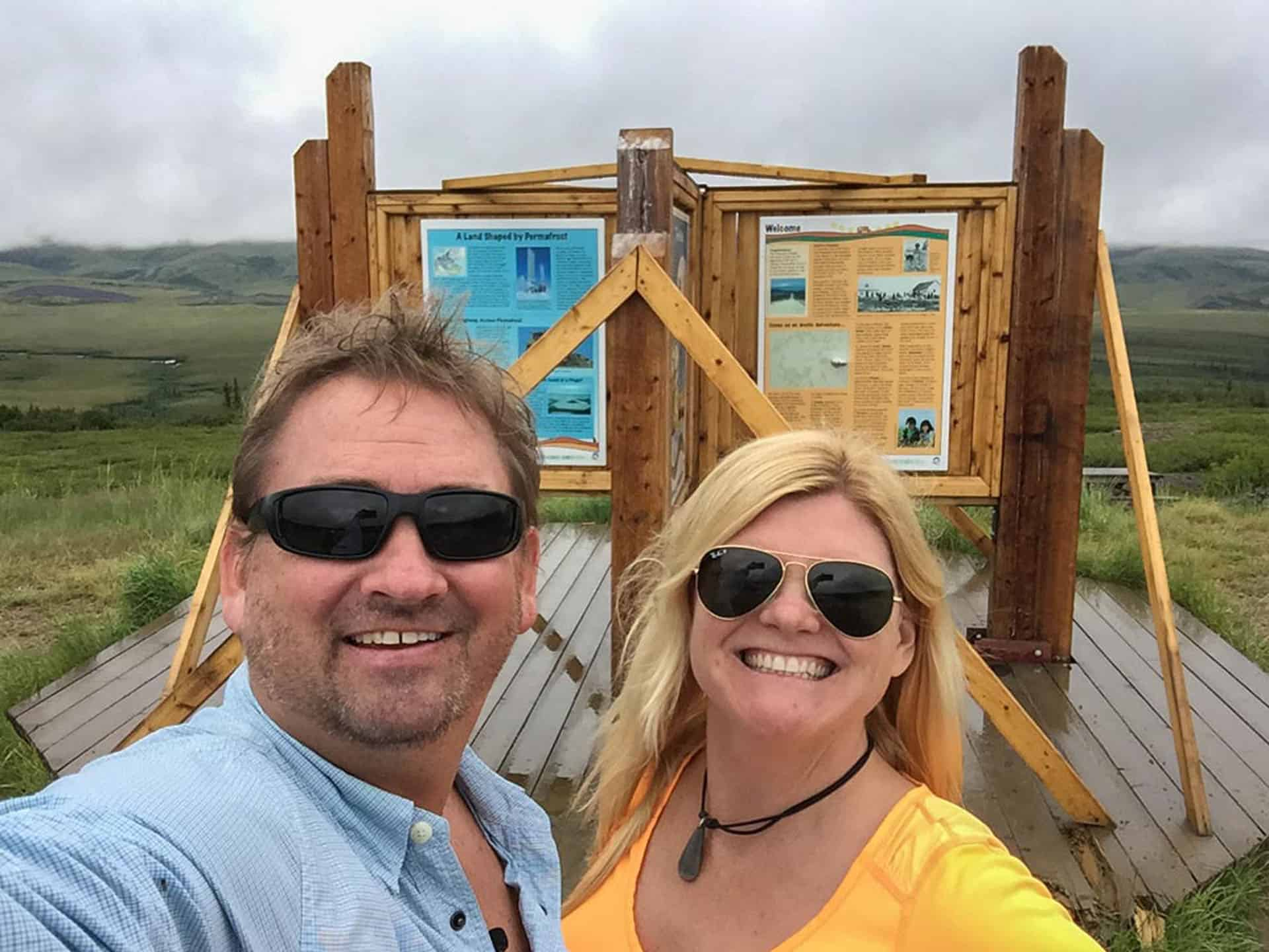 crossing the arctic circle of the Dempster Highway