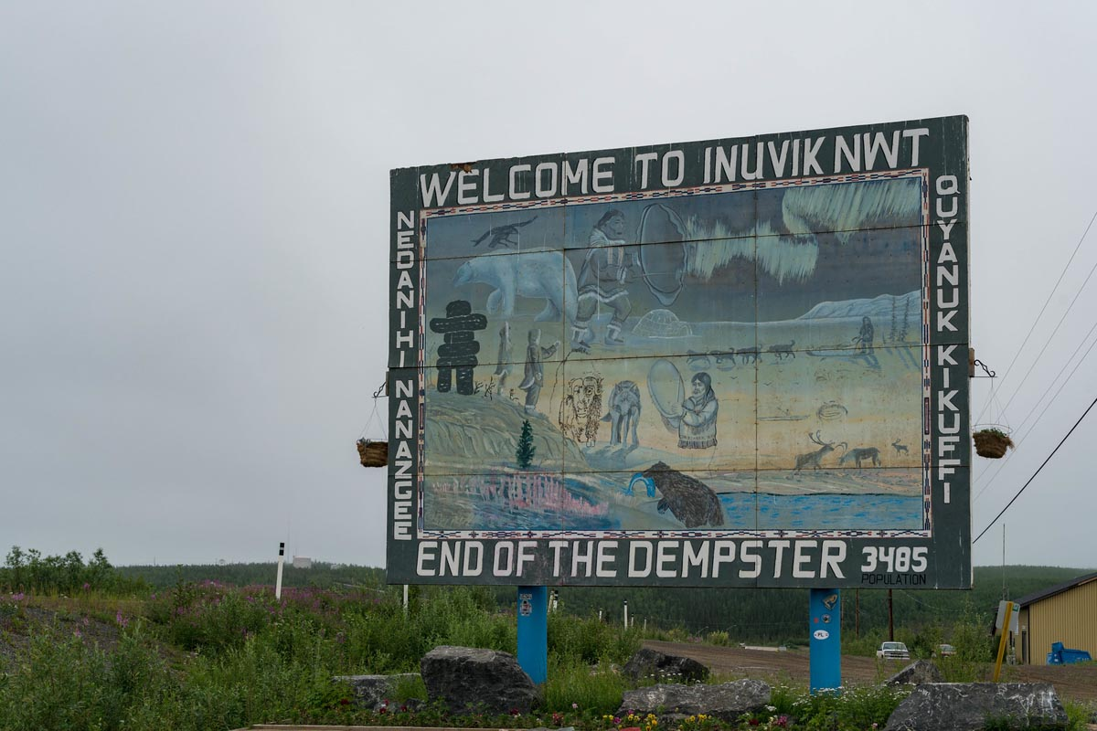 inuvik sign end of dempster highway