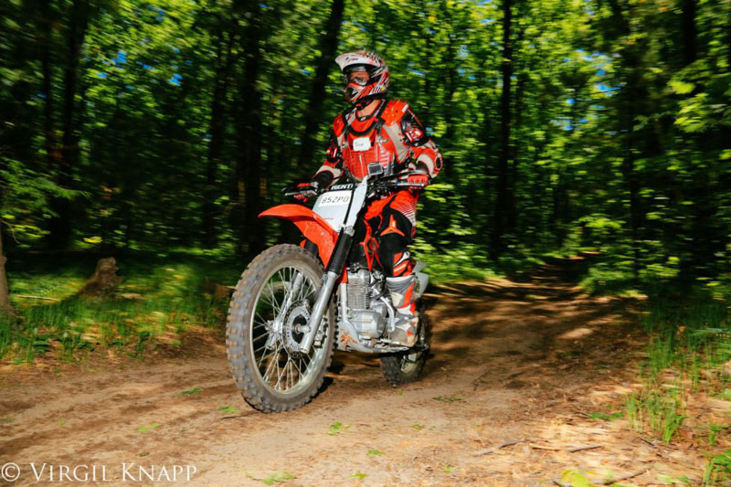 dirt biking ontario forest