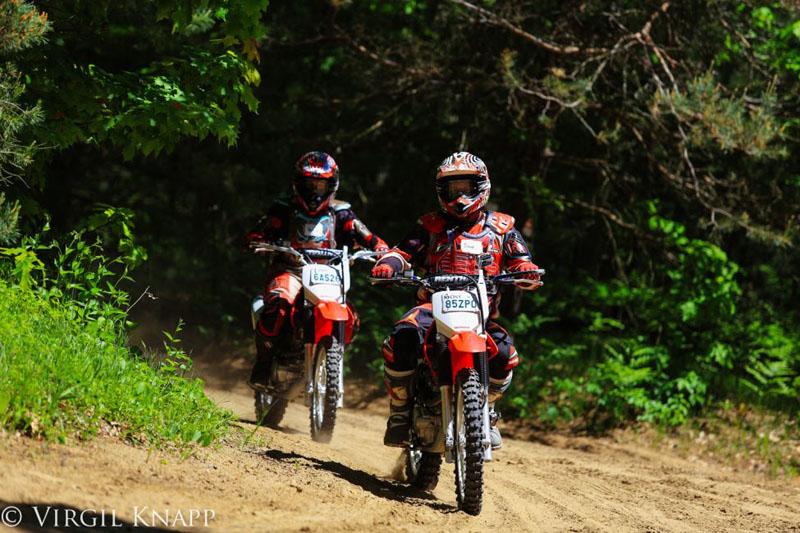 dirt biking ontario pair