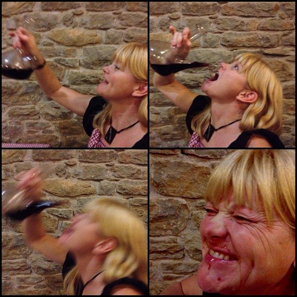 drinking traditional wine in Costa Brava