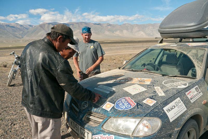 drive mongolia stickers