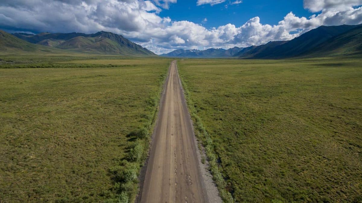 dempster highway arial view