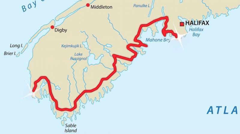 east coast road trip map