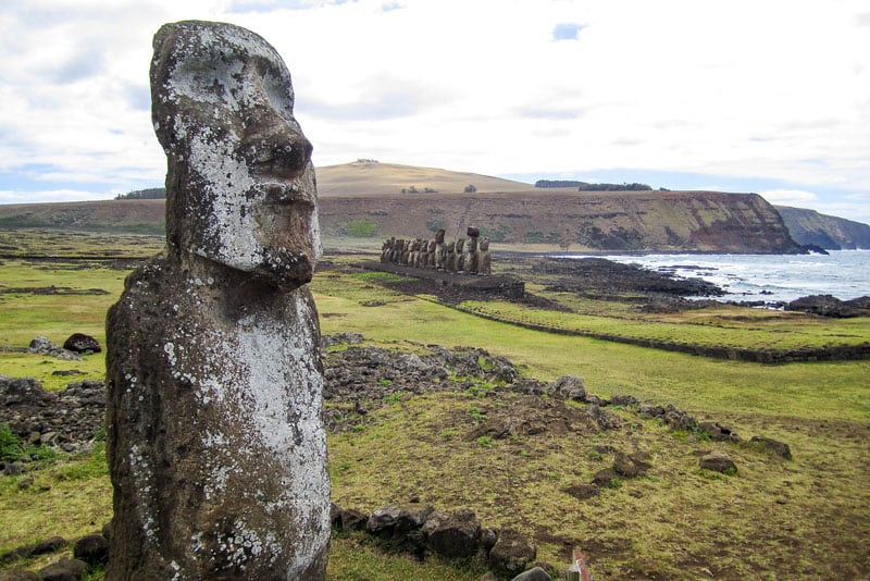 easter island moai map