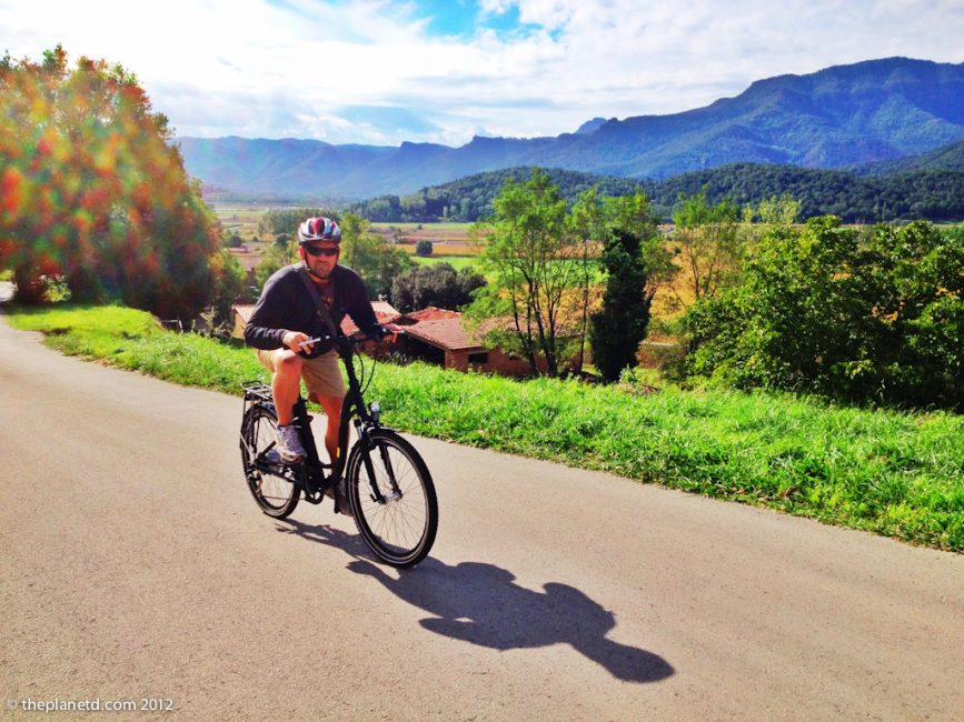 travel blogger ebiking in spain