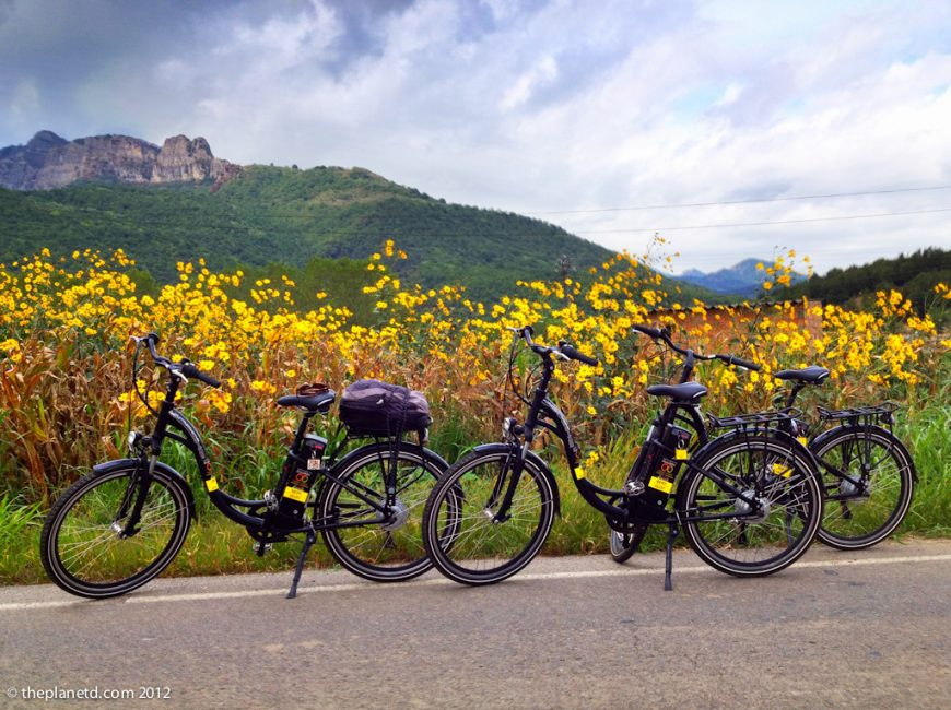 ebikes in spanish countryside