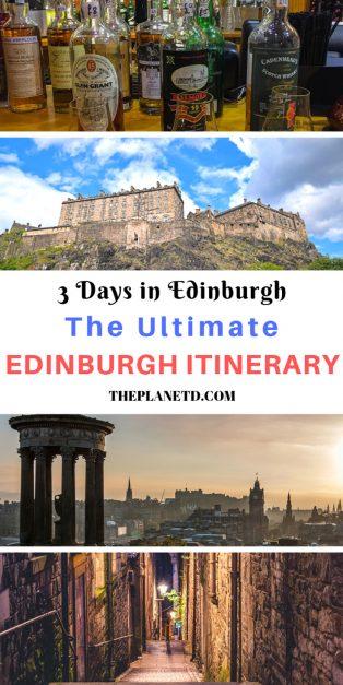 Edinburgh Itineary - 3 Days in Edinburgh Scotland