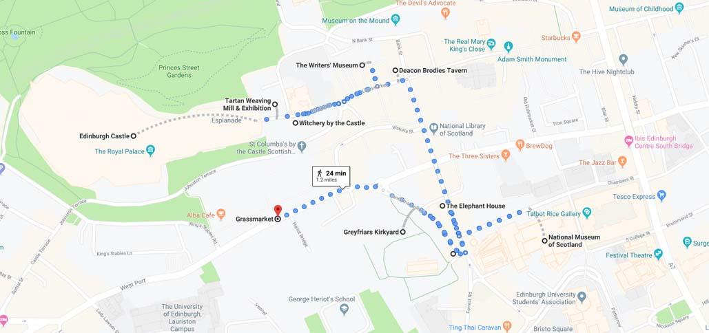 1 day edinburgh itinerary