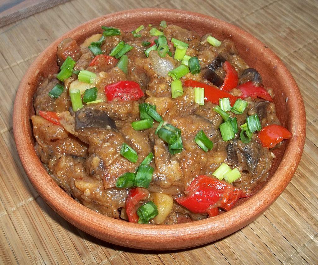 Skordostoumbi eggplant stew zante cuisine