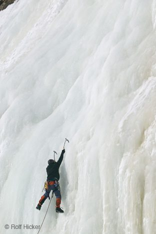 Ice Climbing on the Falls