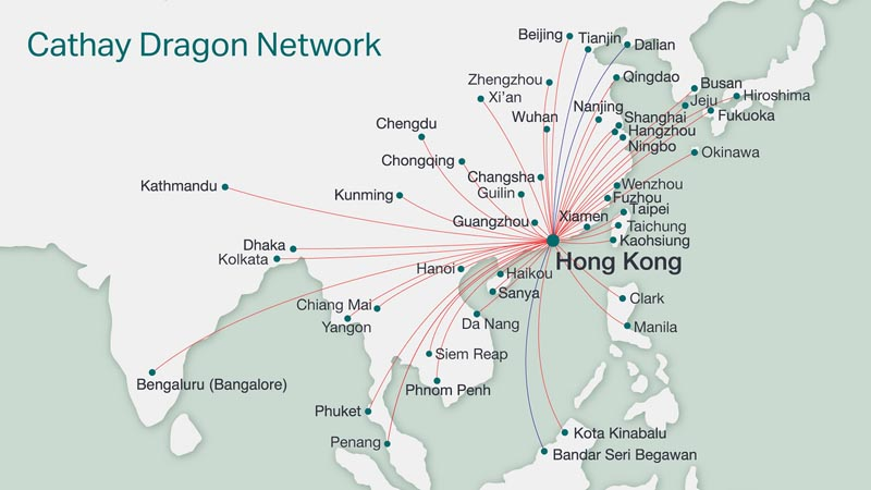 cathay pacific routes
