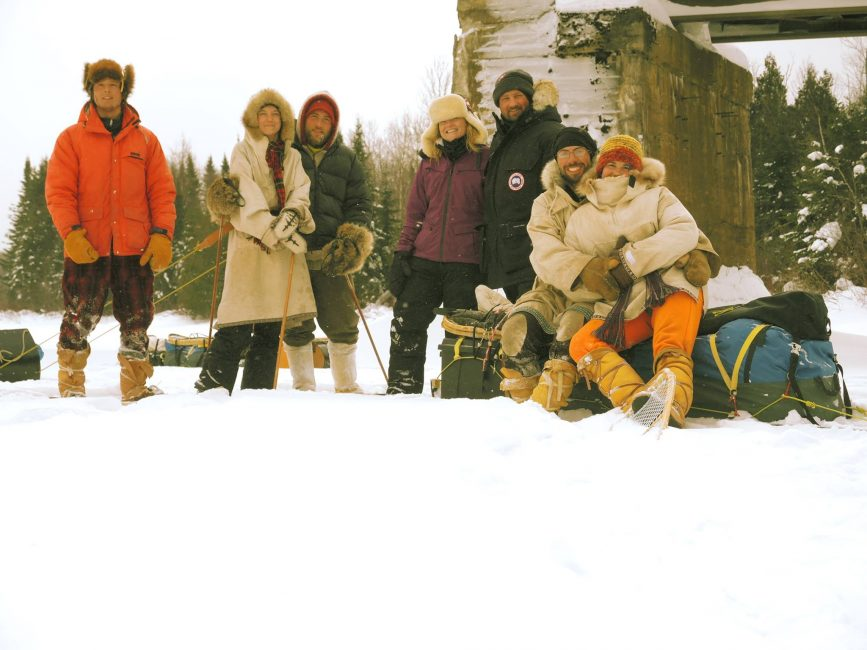 Winter camping expeditions