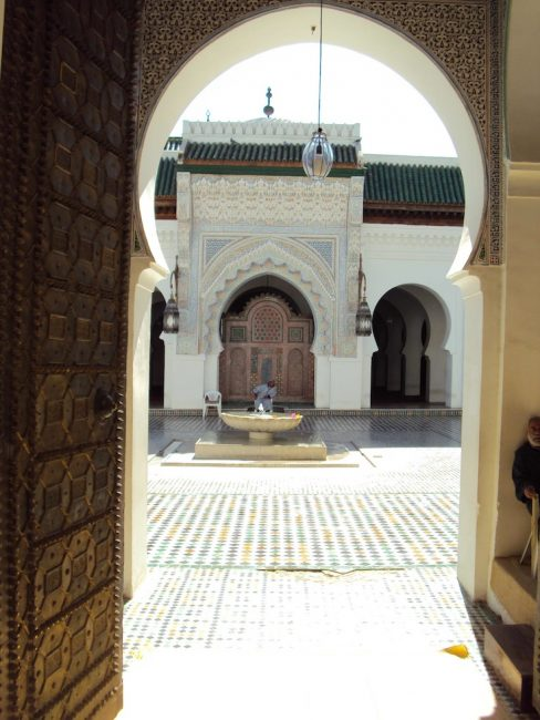 mosque entrance in fes morocco