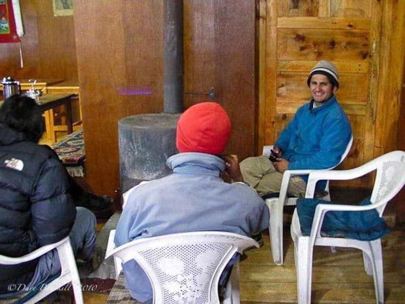 ebc trek guides inside tea house