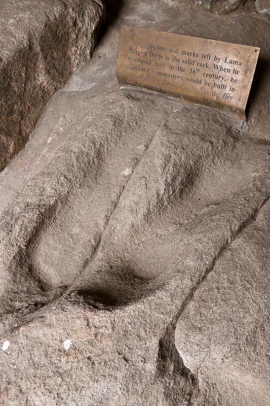 EBC Trek Tengboche Monastery footprints