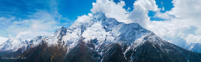mount everest view from ebc