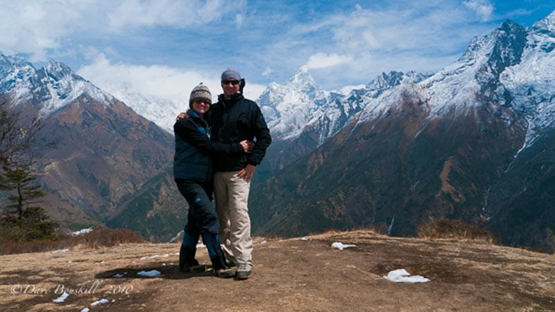 mount everest trekkers dave and deb
