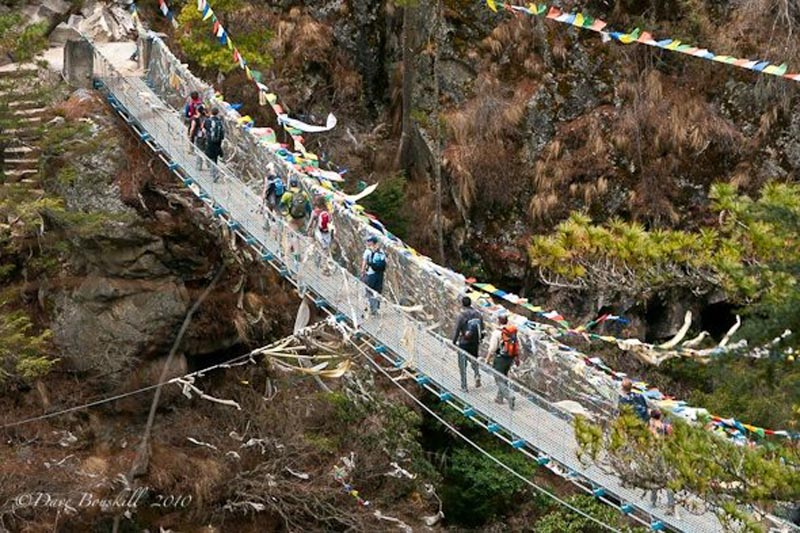 ebc trek suspension bridge