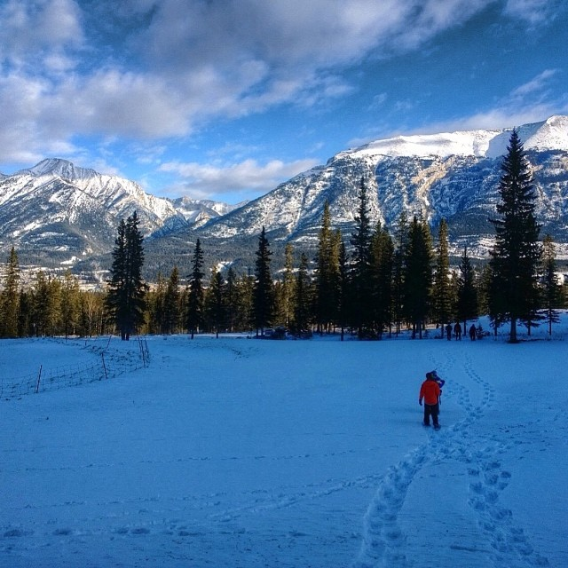 Snowshoeing in Canmore Alberta