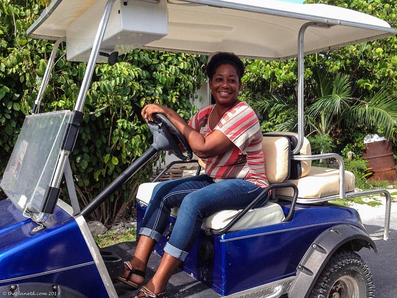 golf carts are used to get around staniel cay