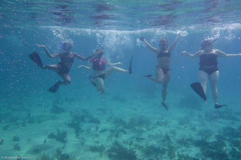 snorkeling underwater grand exuma