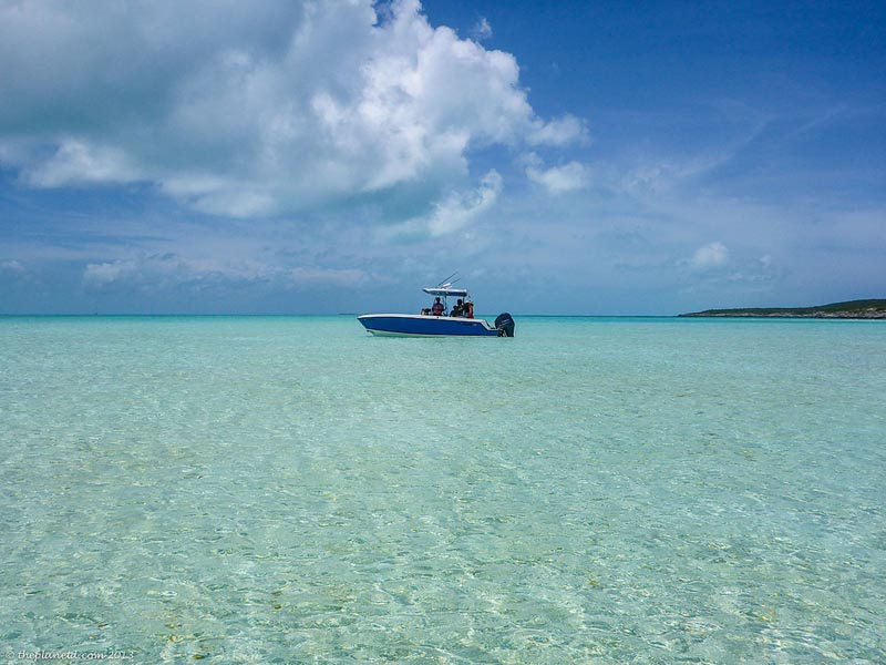 boats in the staniel cay of exuma cays
