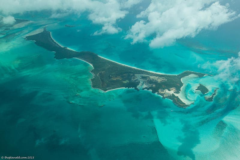 Great Exuma from above