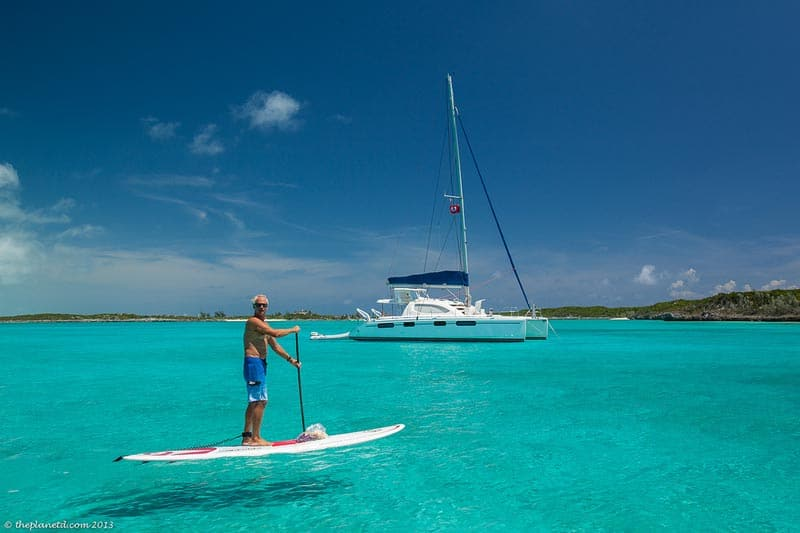 paddle board the exumas