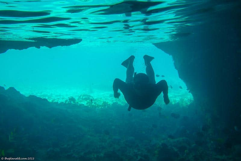 snorkeling in Thunderball Grotto