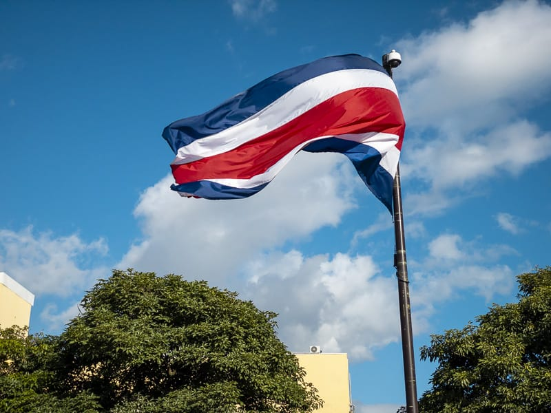 interesting facts about costa rica flag