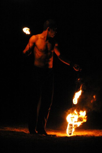 fire spinner in thailand
