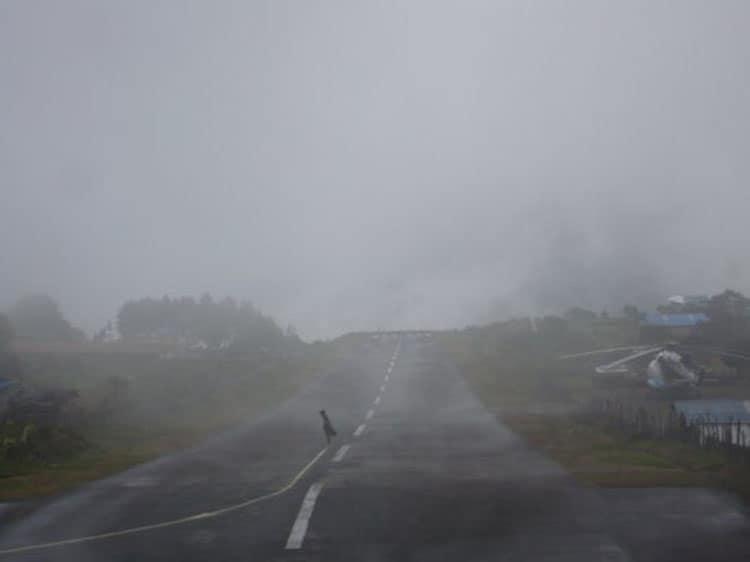 flight from lukla nepal - bad weather
