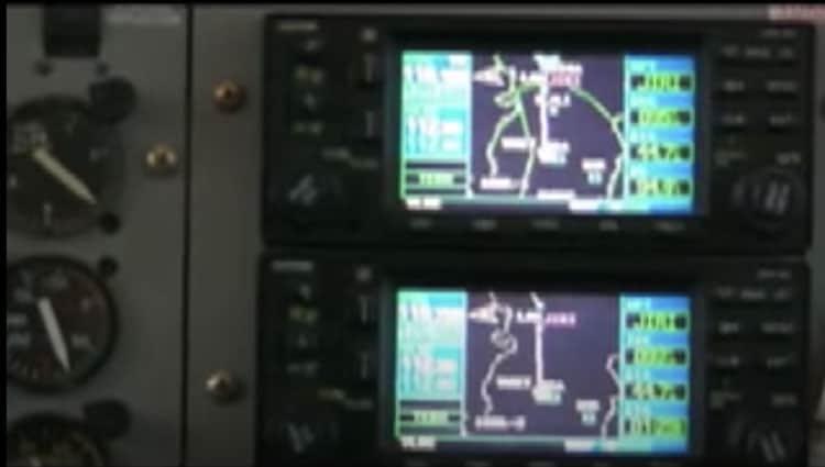 cockpit instruments on lukla flight