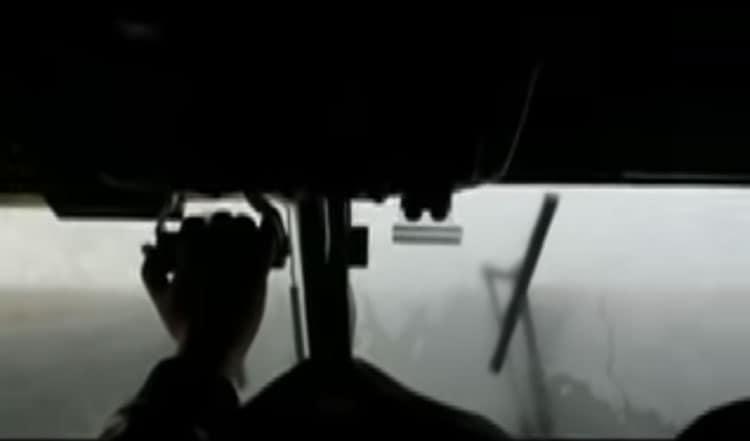 foggy weather flight to lukla