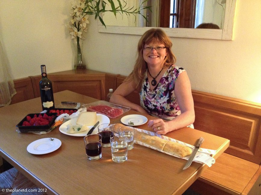eating in during around the world travels