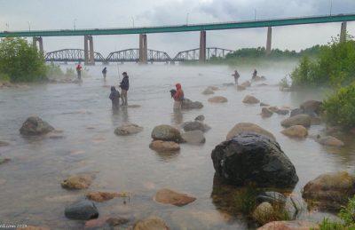 fly fishing ontario bridge