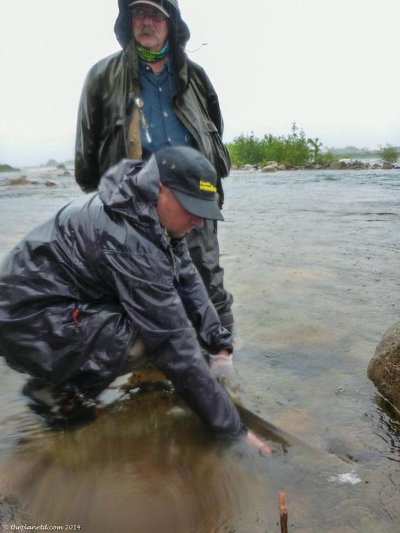 fishing in rain