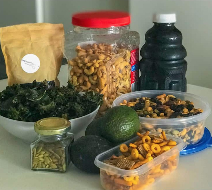 variety of food for trekking
