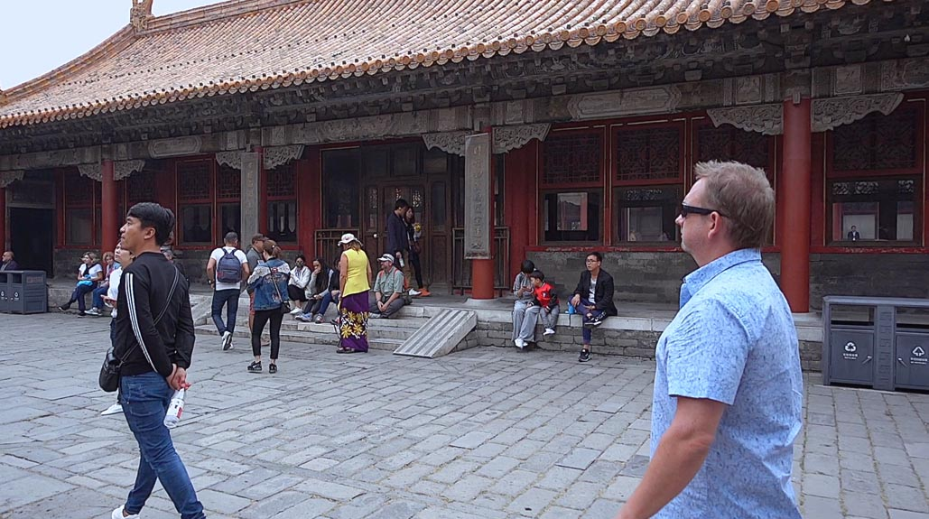 Dave walking through forbidden city