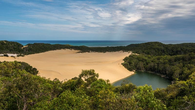 Lake Wabby on Australia's Fraser Island