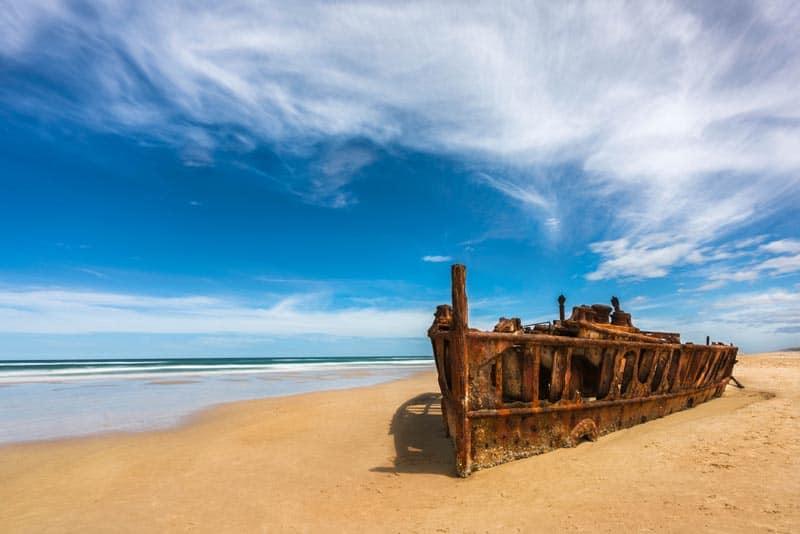 Maheno ship wreck Fraser Island Australia