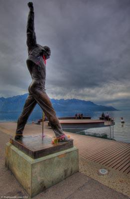 freddie mercury statue montreux switzerland