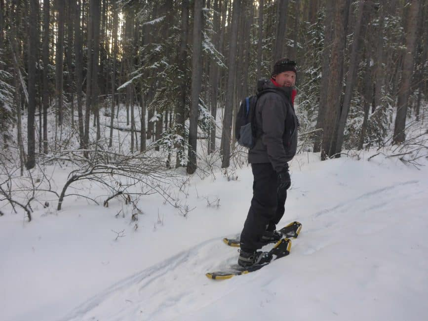 dave snowshoeing
