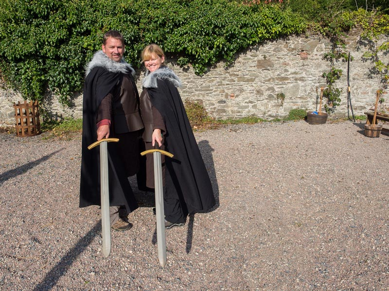 deb and dave with swords | game of thrones filming locations