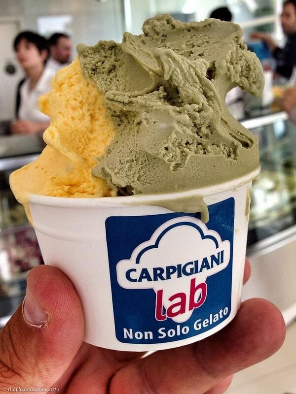 gelato vs ice cream Bologna Italy thick tasty gelato